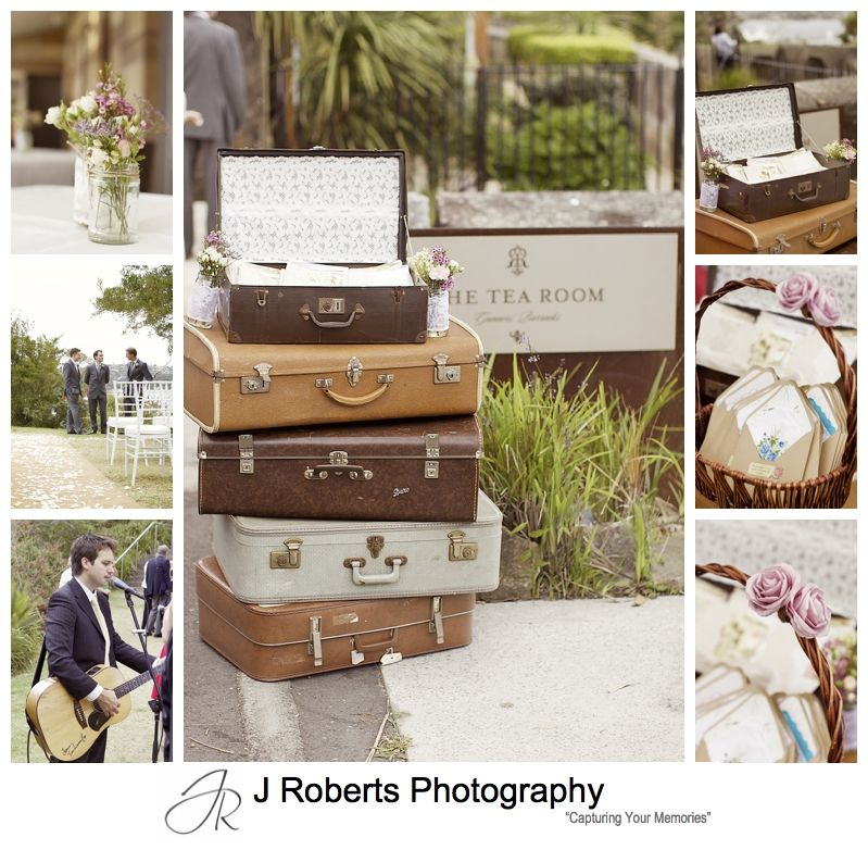Vintage inspired details for wedding ceremony at Gunners' Barracks Mosman - sydney wedding photography
