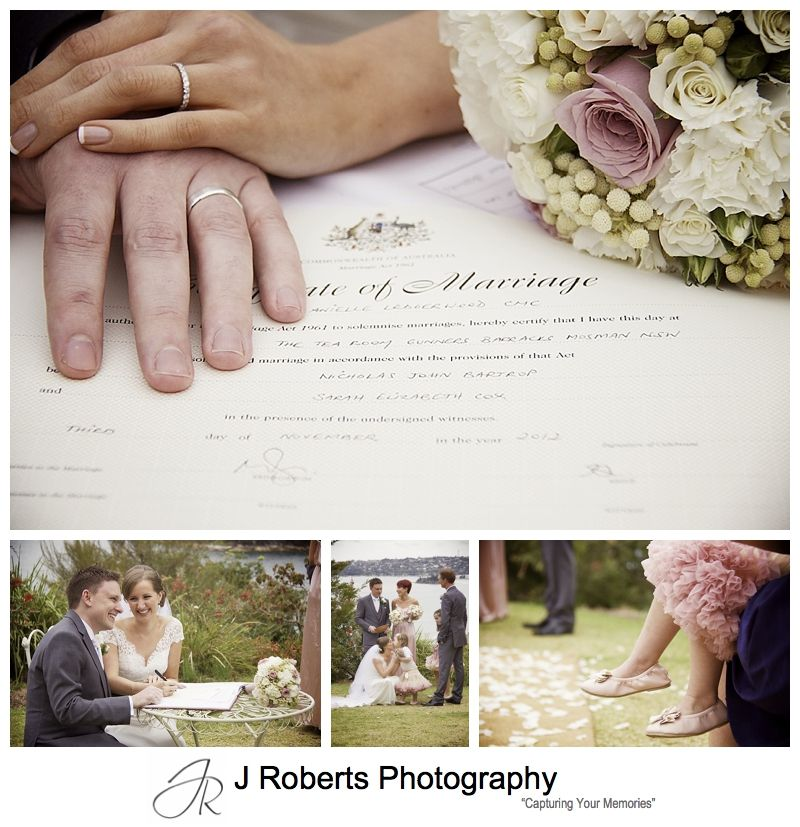 Signing the register at wedding ceremony - sydney wedding photography