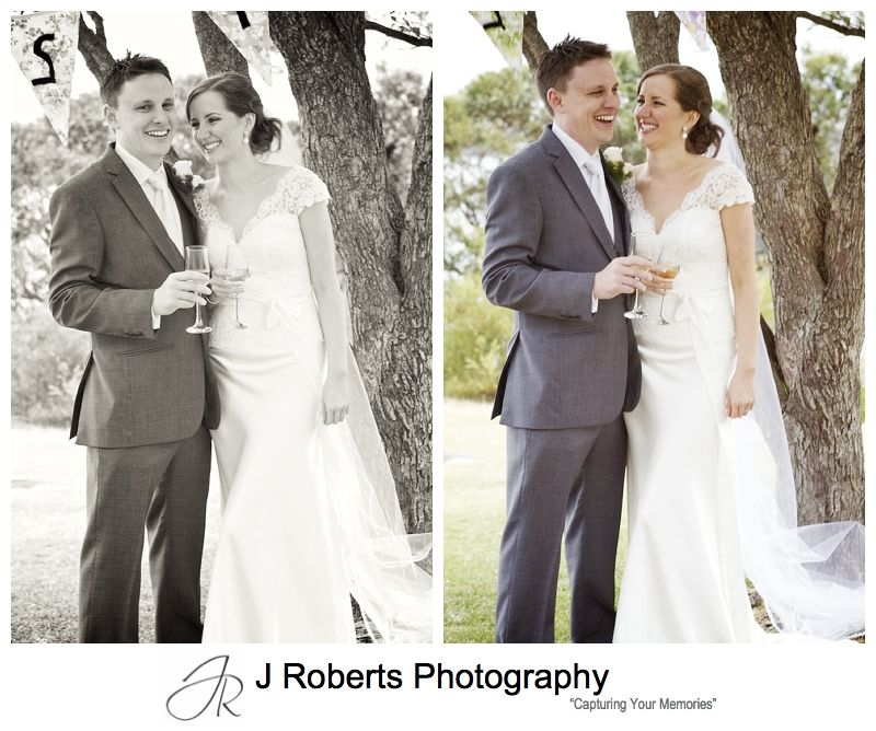 Laughing couple - sydney wedding photography