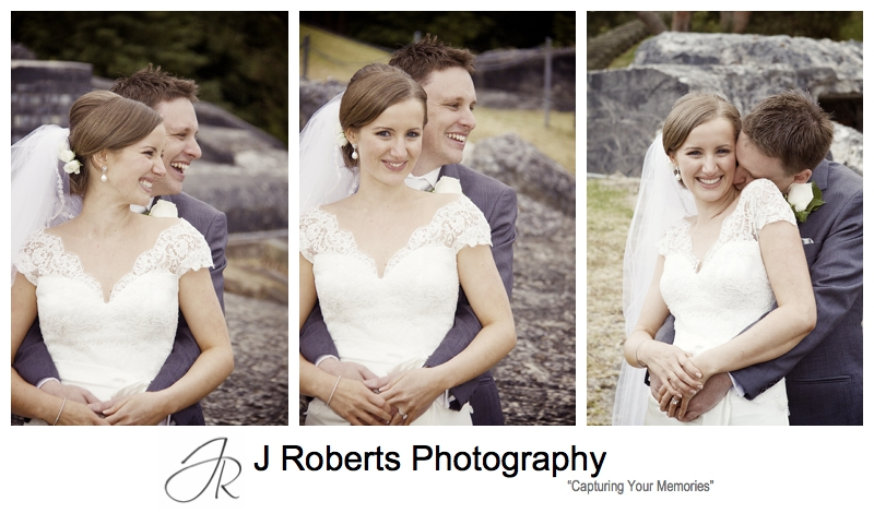 Smiling bride and groom - sydney wedding photography