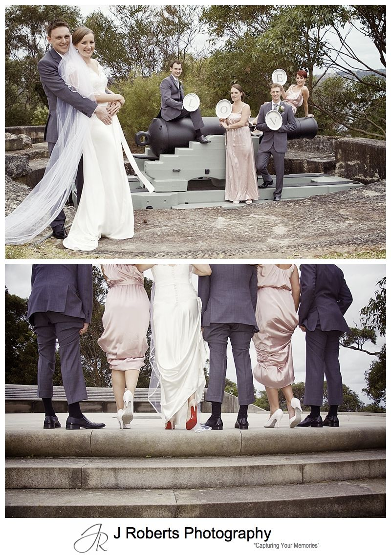 Red shoe soles for wedding shoes - sydney wedding photography