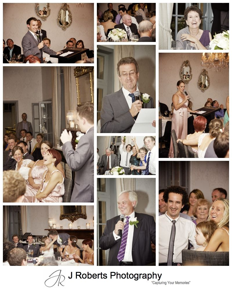 Speeches at wedding reception The Tea Rooms Gunners' Barracks - sydney wedding photography