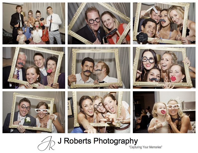 Photo booth fun at wedding reception - sydney wedding photography