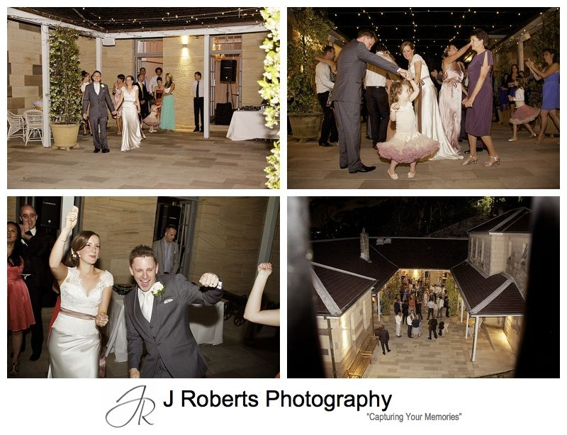 Dancefloor in the courtyard at Gunners' Barracks Mosman - sydney wedding photography