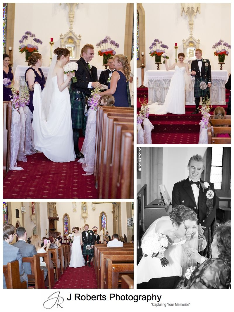 Wedding ceremony at Holy Name of Mary Hunters hill - sydney wedding photograph