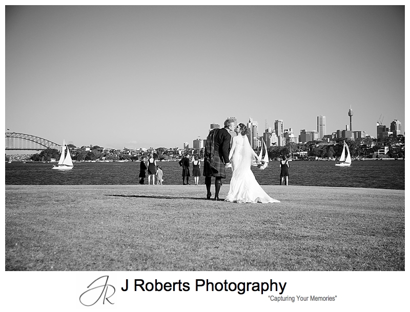 Bridal party for photographs at Clark Point Woolwich - sydney wedding photographer