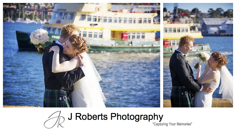 Laughing candid bridal portraits at woolwich sydney - sydney wedding photographer