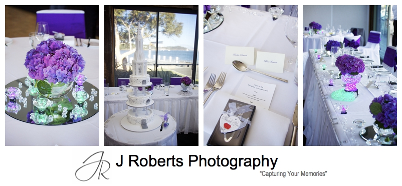Wedding reception details at The Deckhouse Woolwich - Sydney wedding photographer