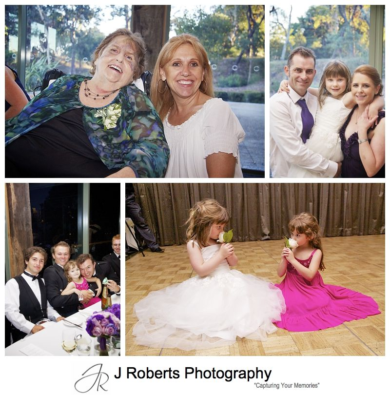 Guests at wedding reception at The Deckhouse Woolwich - Sydney wedding photographer