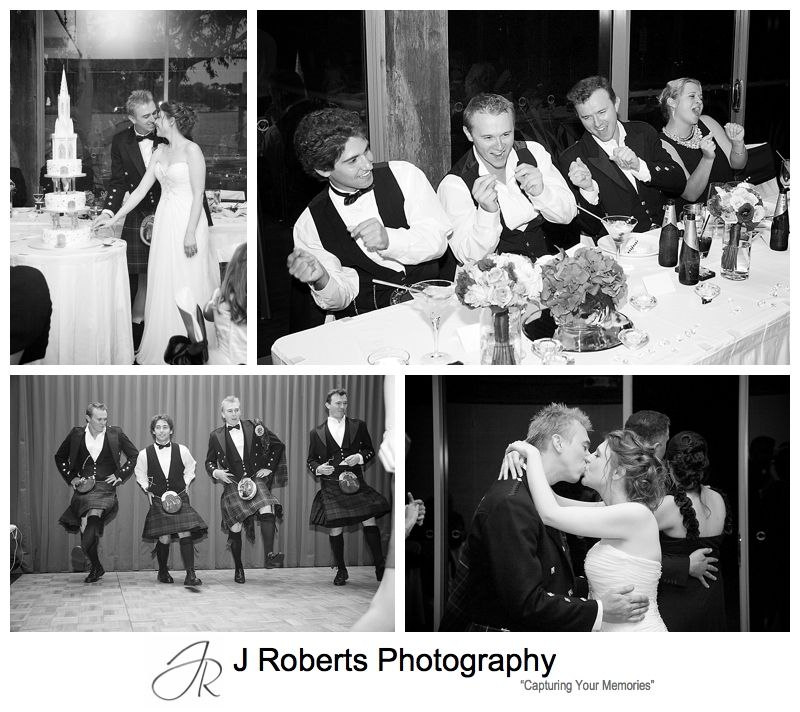 Dancing at wedding reception at the deckhouse woolwich - Sydney wedding photographer