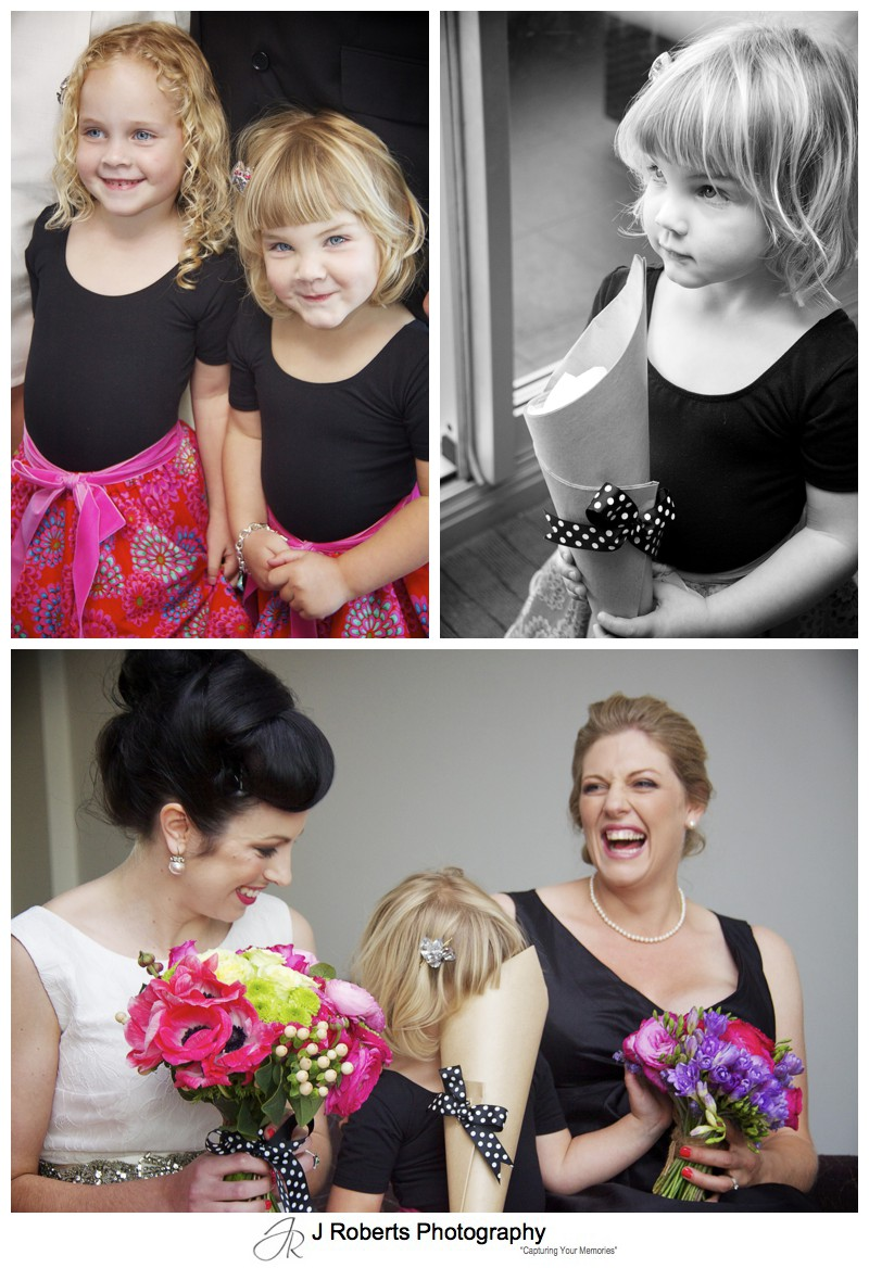 Cute flower girls - sydney wedding photographer