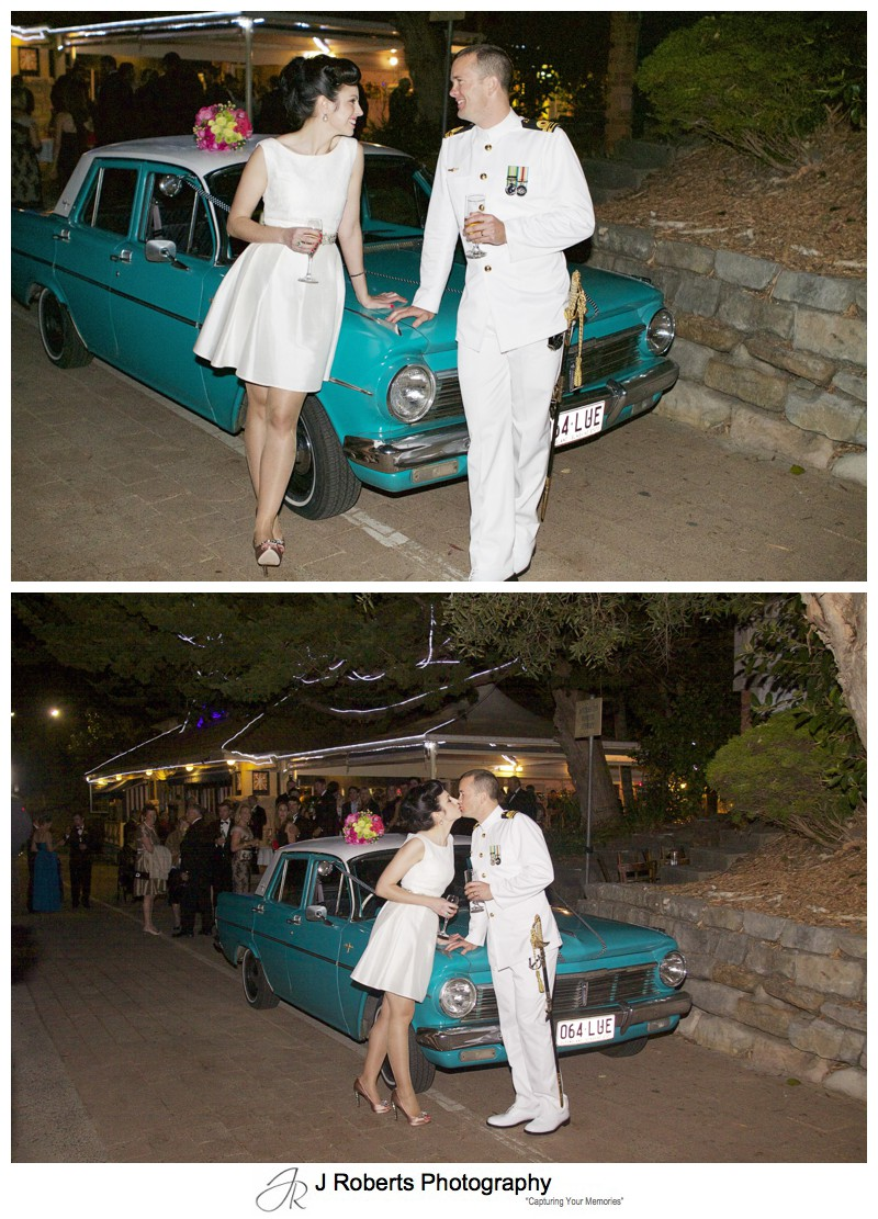 1950s style wedding with old holden - sydney wedding photography