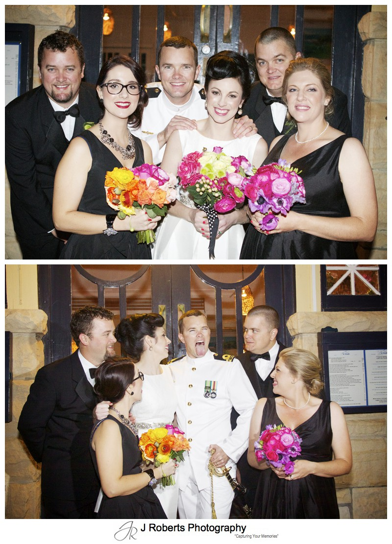 Bridal party group photo - sydney wedding photography