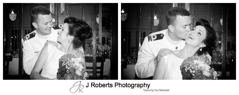 B&W portraits of a bridal couple - sydney wedding photographer