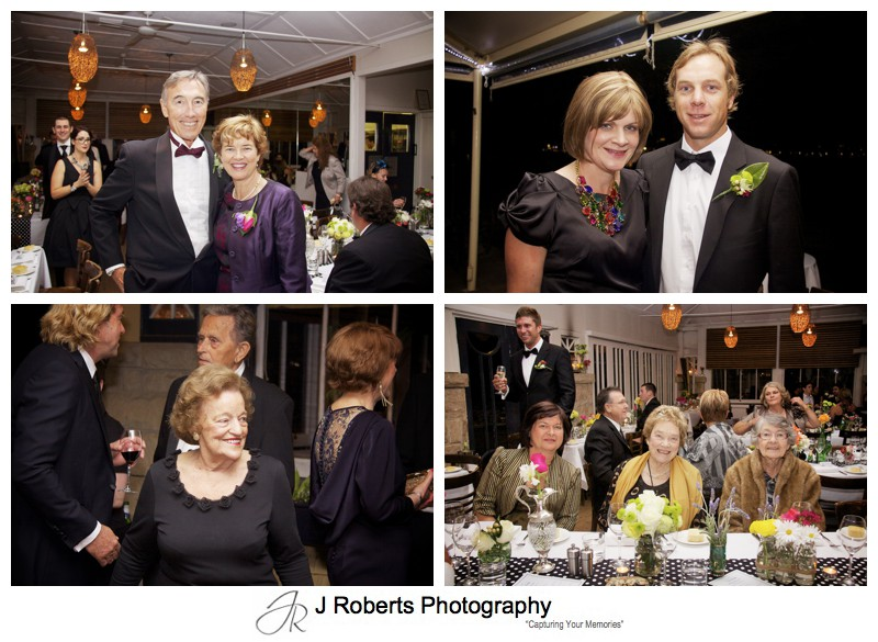 Guests portraits at wedding reception - sydney wedding photography