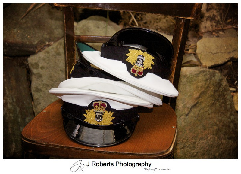 Australian Navy Dress Uniform Hats - sydney wedding photography