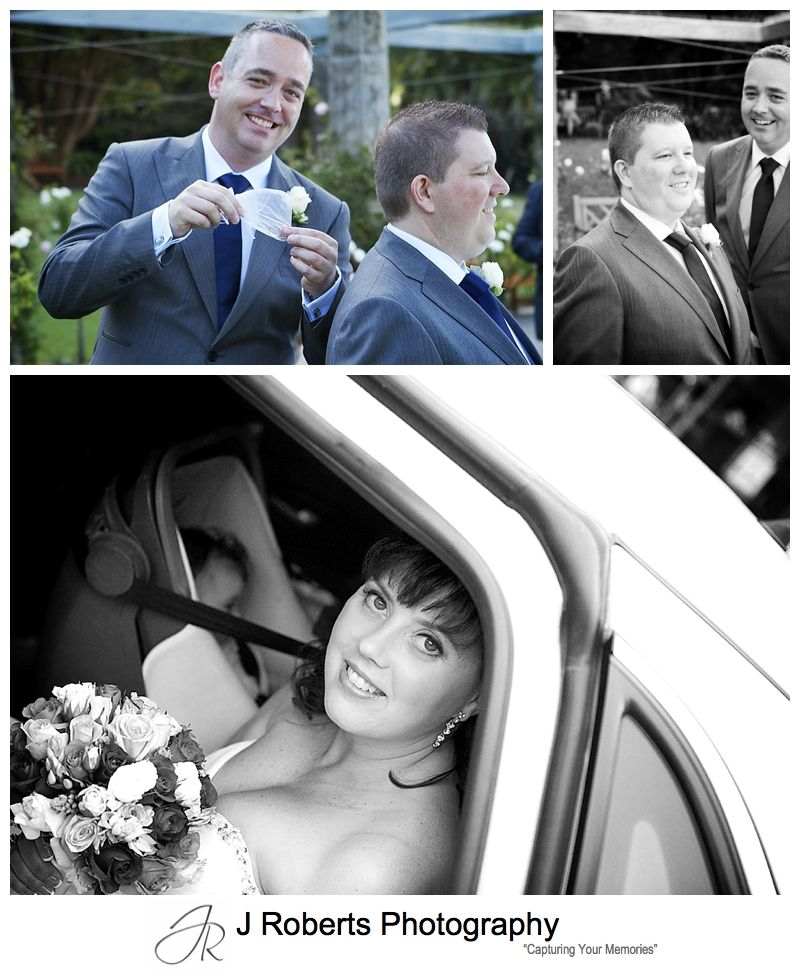 Groom nervous at brides arrival - sydney wedding photography