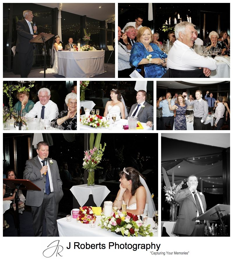 Wedding speeches on Sydney Glass Island - sydney wedding photography