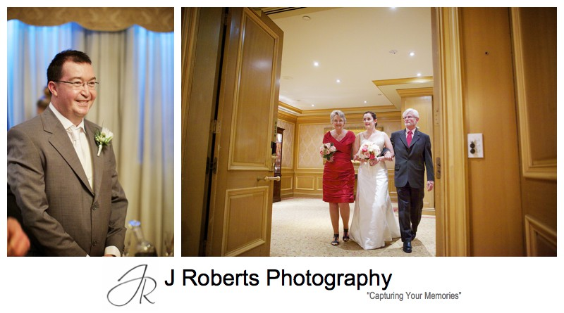 Brides arrival at the wedding ceremony - wedding photography sydney