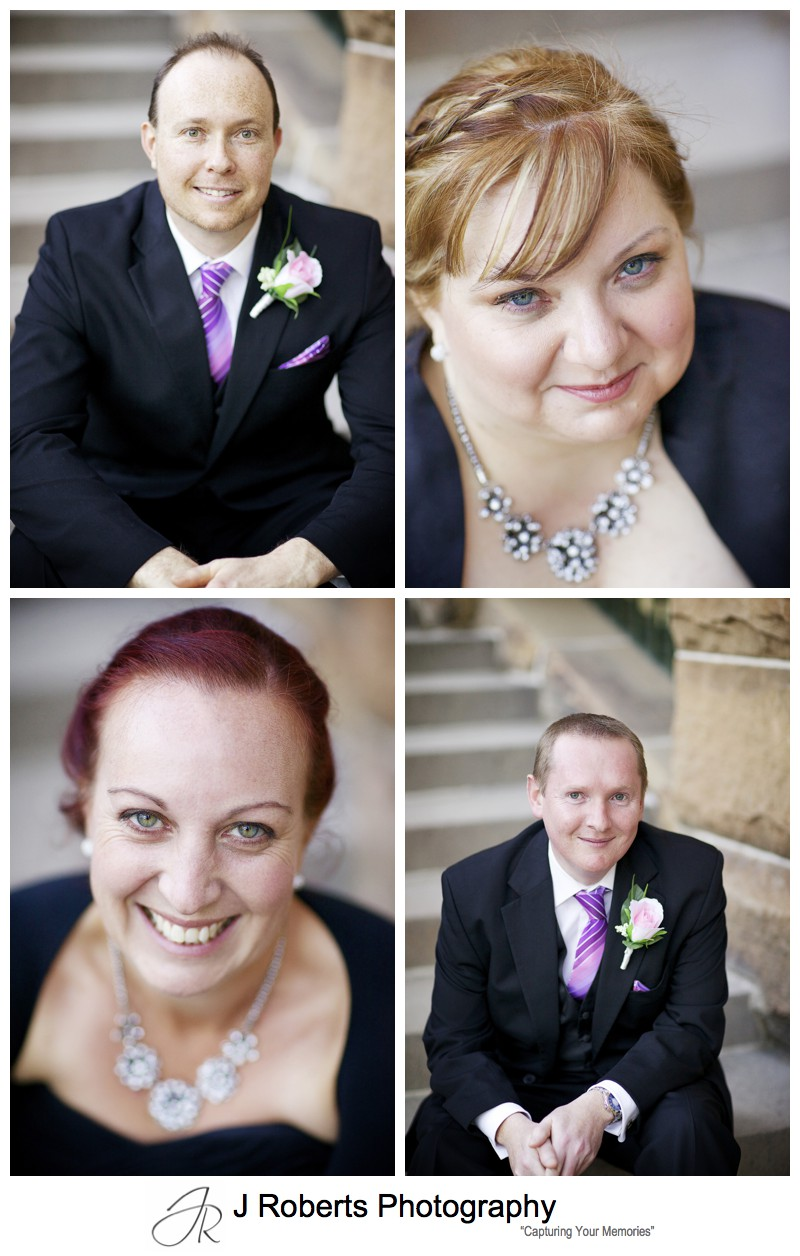 Bridal party individual portraits - sydney wedding photography