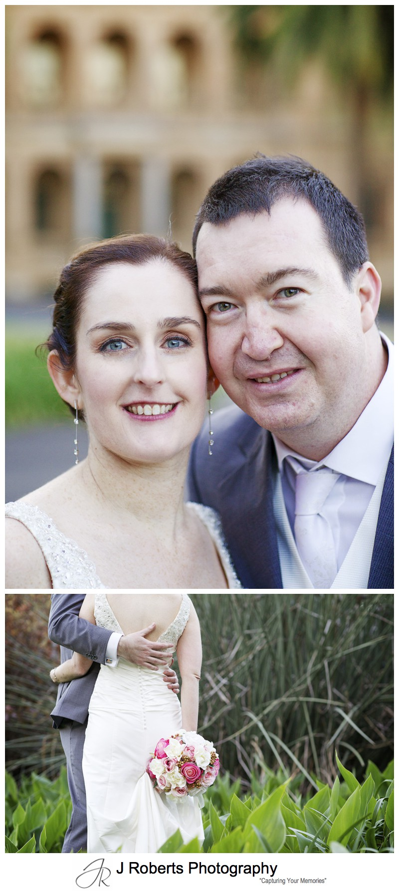 Portrait of a bride and groom - sydney wedding photography
