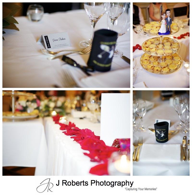 Wedding reception details at Sir Stamford Sydney - wedding photography sydney