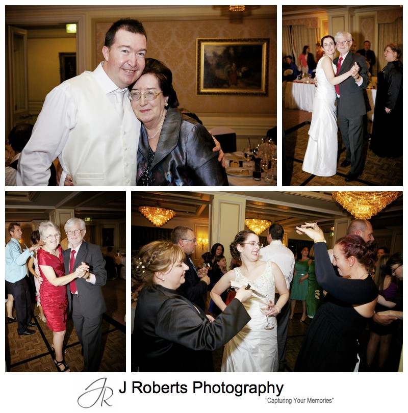 Dancefloor action at wedding reception - sydney wedding photography
