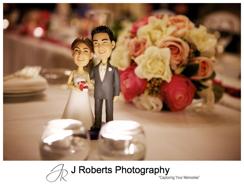Bride and groom cake figurines - sydney wedding photography