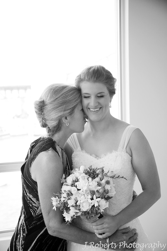 Bride and her mother sharing a moment - wedding photography sydney