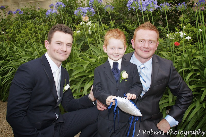 Groom with his brother and paige boy before wedding - wedding photography sydney