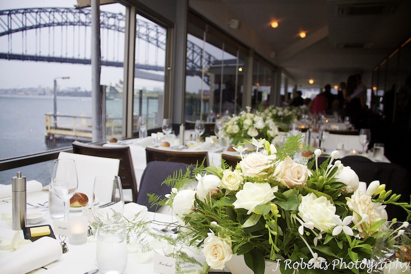 Table settings at Sails Lavender Bay - wedding photography sydney