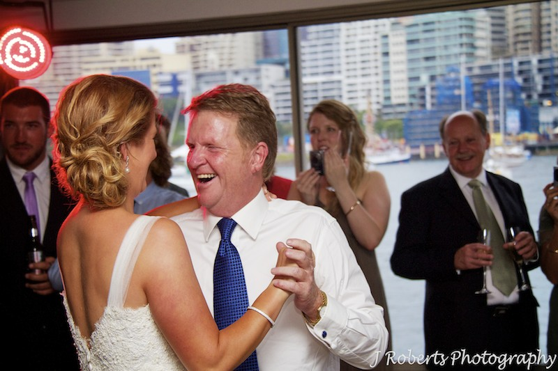 Bride dancing with her father - wedding photography sydney