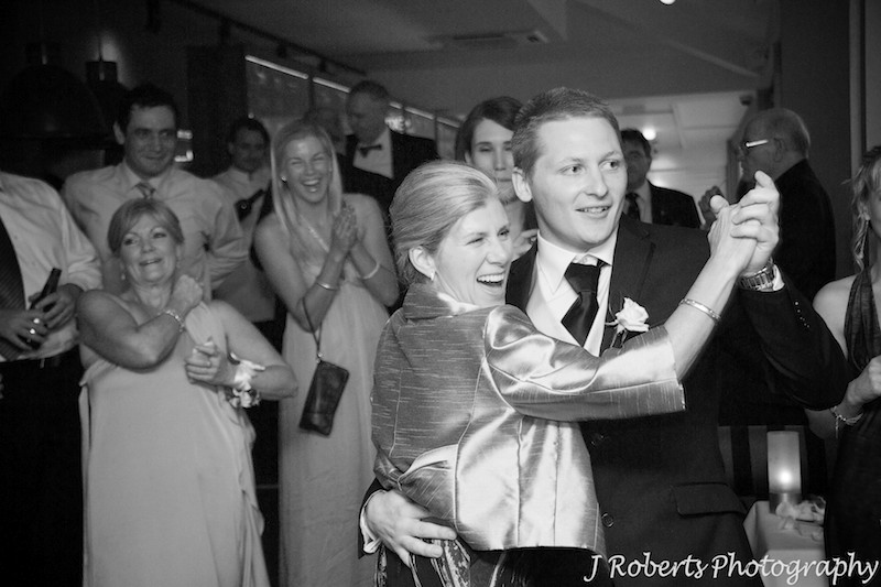 Mother of the bride dancing with the best man - wedding photography sydney