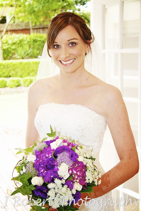 Bride looking glamorous and gorgeous and ready for her wedding - Wedding Photography Sydney