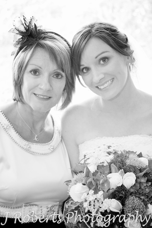 mum and bride before the wedding ceremony - wedding photography sydney