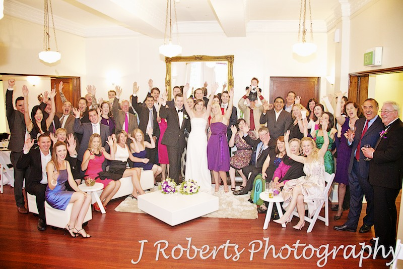 photo of all the guests - wedding photography sydney