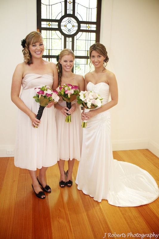 Bride and bridesmaids - wedding photography