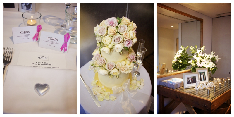 Wedding reception details at Bathers Pavilion Balmoral Beach - wedding photography sydney