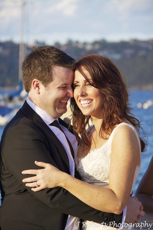 Couple laughing together - wedding photography sydney