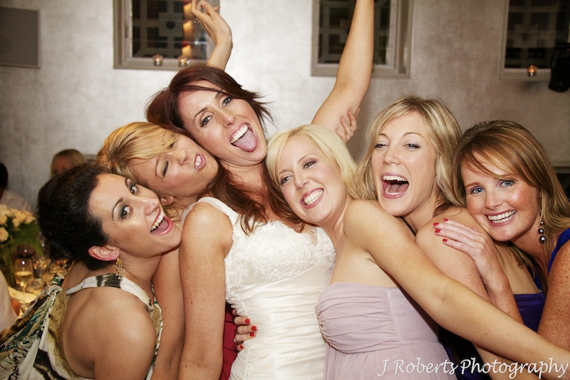 Girls on the dance floor = wedding photography sydney