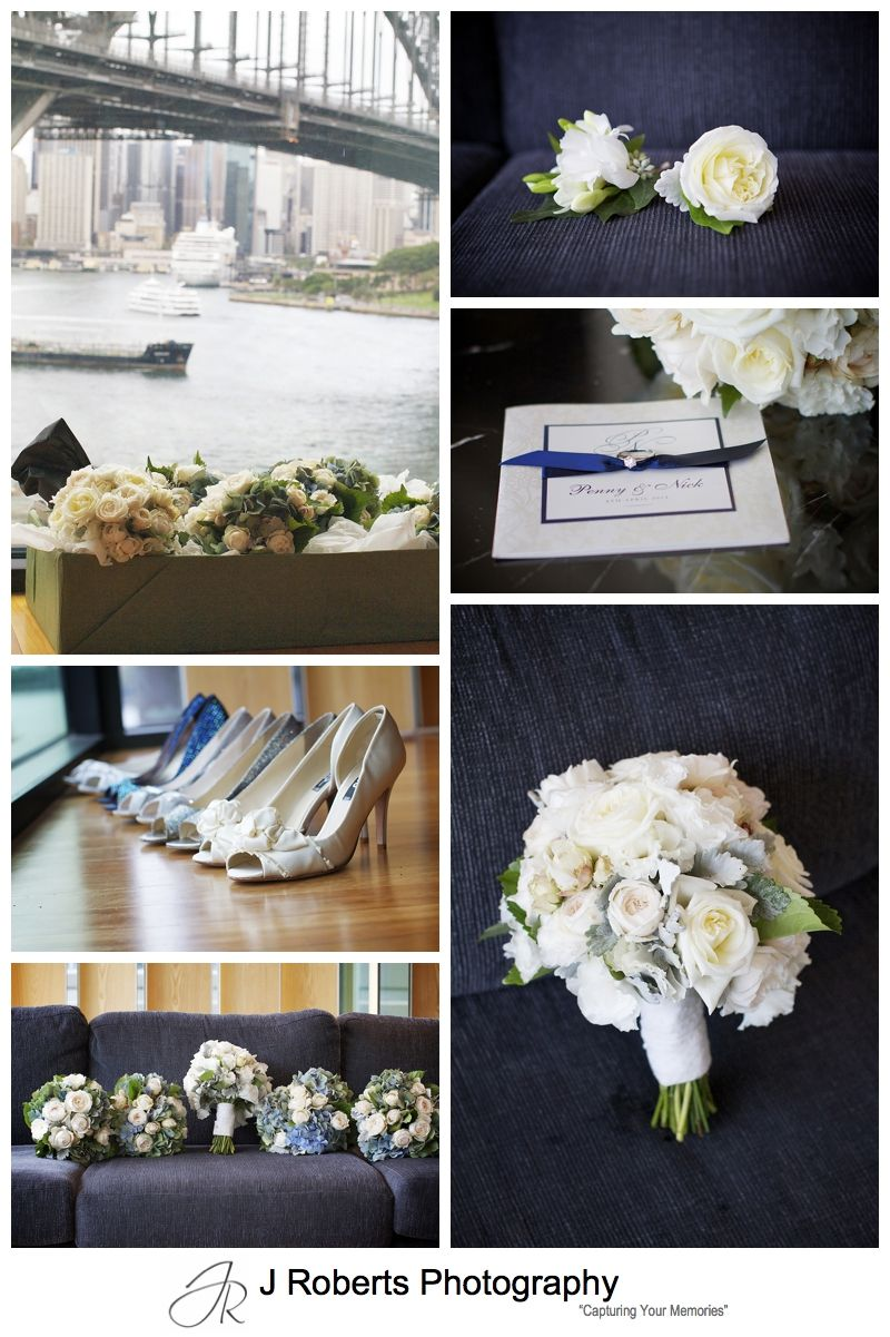 Bridal details with a navy and cream theme - sydney wedding photography