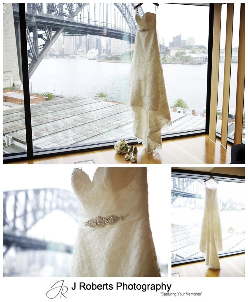 Traditional old fashioned lace wedding dress - sydney wedding photography
