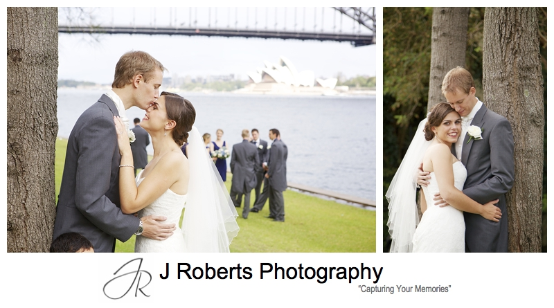 Bridal portraits on sydney harbour - sydney wedding photography