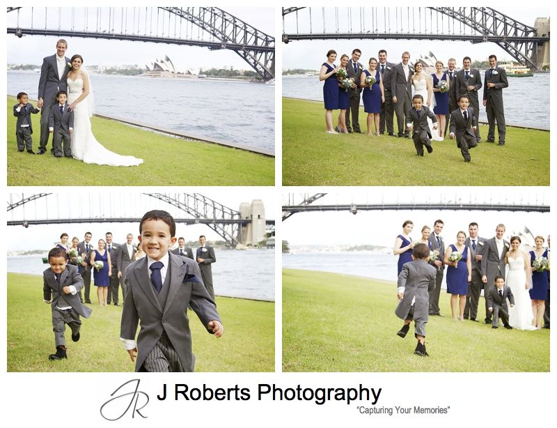 Bridal party with little page boys - sydney wedding photography