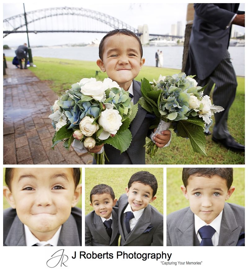 Cheeky Page Boys - sydney wedding photography