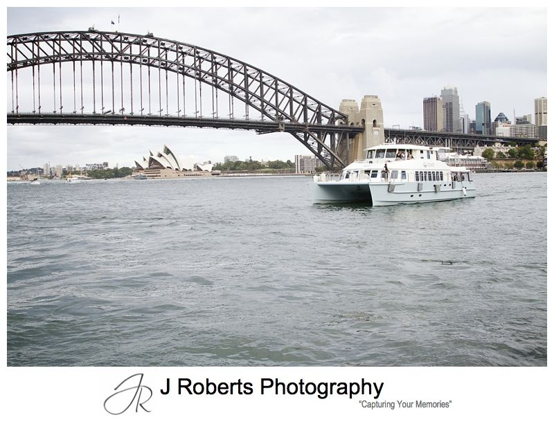 Wedding harbour cruise sydney - sydney wedding photography