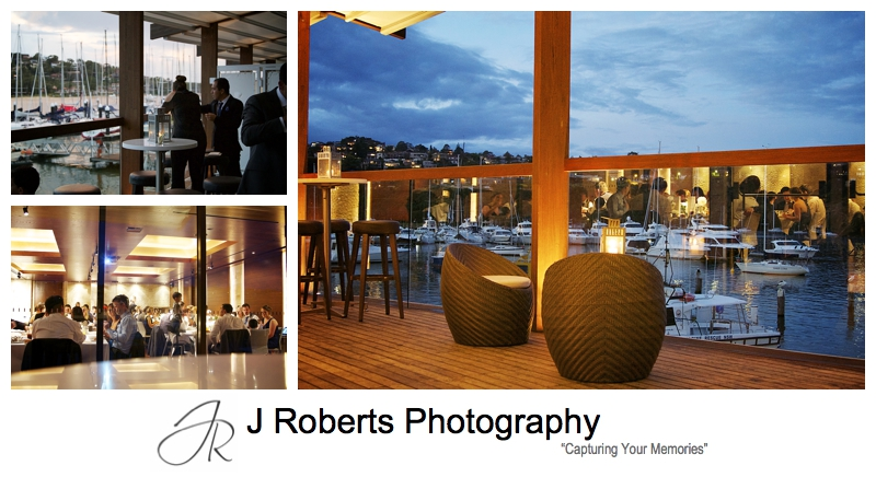 Night wedding reception at Zest @ The Spit - sydney wedding photography