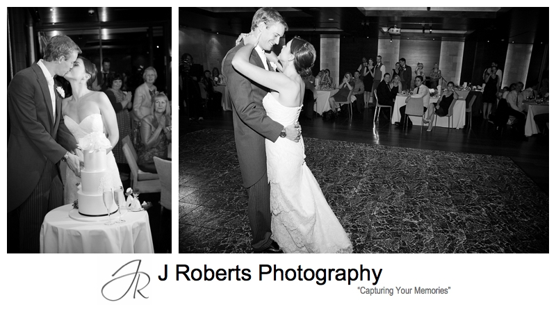 B&W portraits of bridal waltz - sydney wedding photography