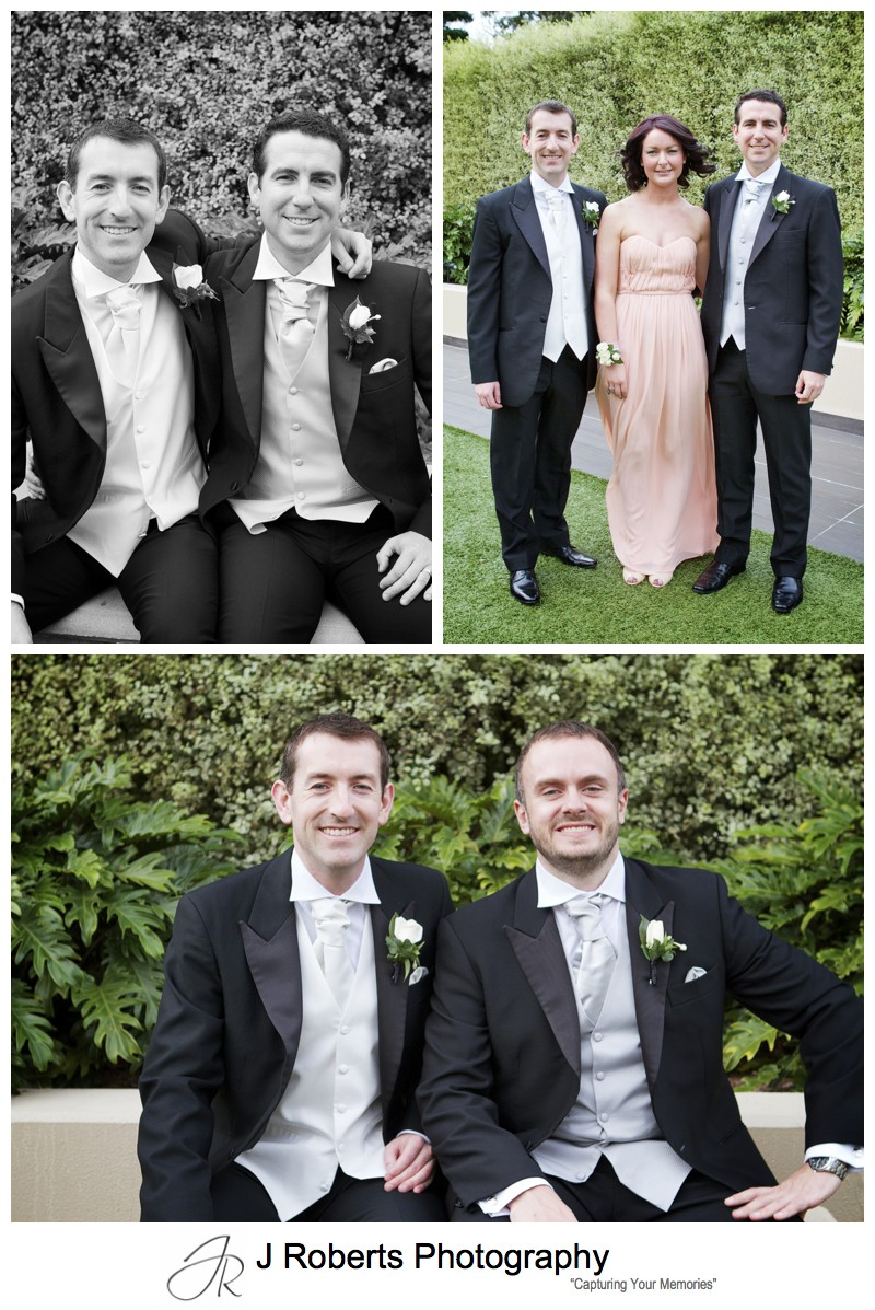 Groom with his groomsmen - sydney wedding photography