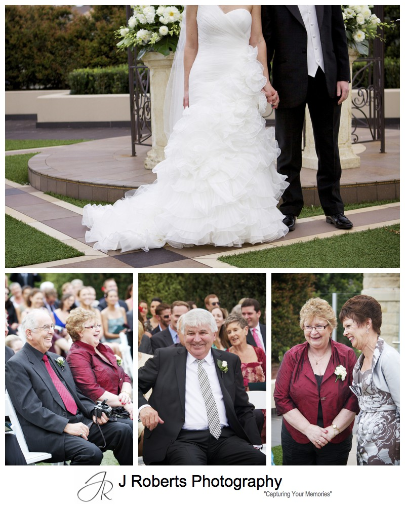 Parents reactions during wedding ceremony = wedding photography sydney
